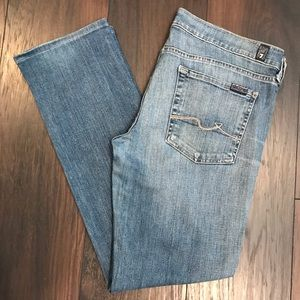 7 For All Man Kind straight leg stretch jeans